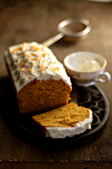 Carrot cake with cream cheese frosting last