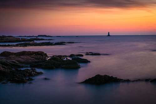 sunset lighthouse unitedstates rhodeisland atlanticocean sakonnet littlecompton