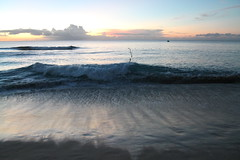 Sunset at the beach in Barbados