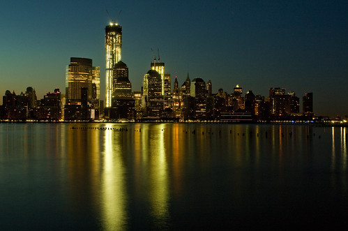 nyc tower night freedom long exposure manhattan
