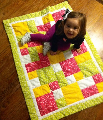 Jael's first quilt...2 years later