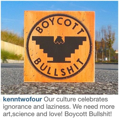 So. Good. A repost from @kenntwofour. Brilliant. Buy some of his 'shit' tomar at #iceatlanta @iceatlanta #boycottbullshit by twotoneatl