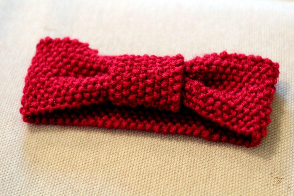 Seed Stitch Knotted Headband