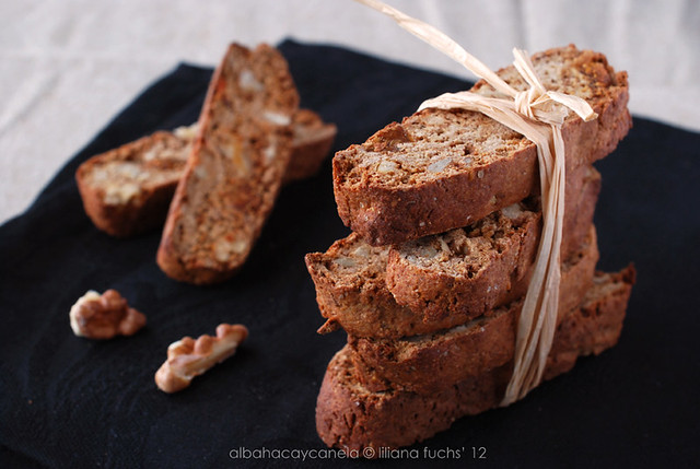 Fig and walnut buckwheat biscotti