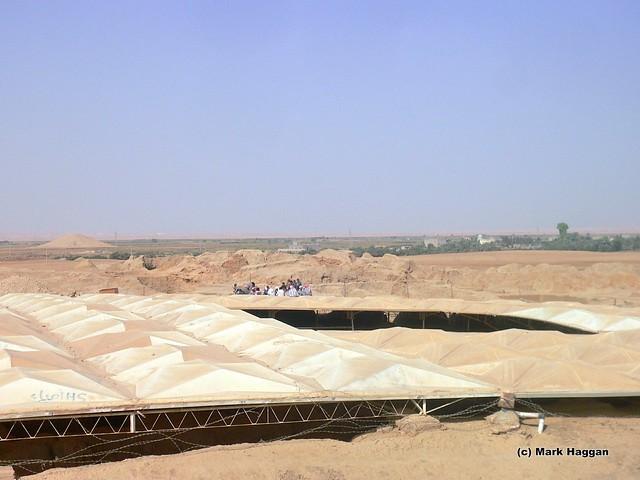 Archeological work in Mari, on the Syria Iraq border