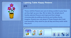 Lighting Table Happy Flowers