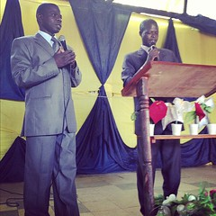 I preached both services this morning for these men. Pastor Paul and Bishop Joshua. #KenyaRelief2012