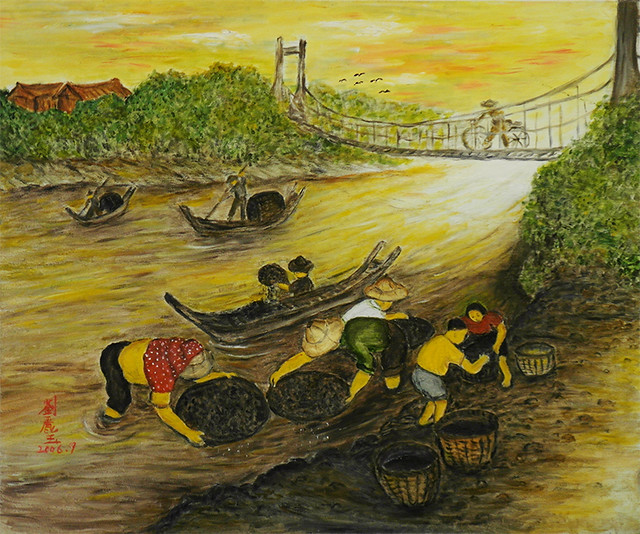 基隆河撈煤Coal Catching in Keelung River