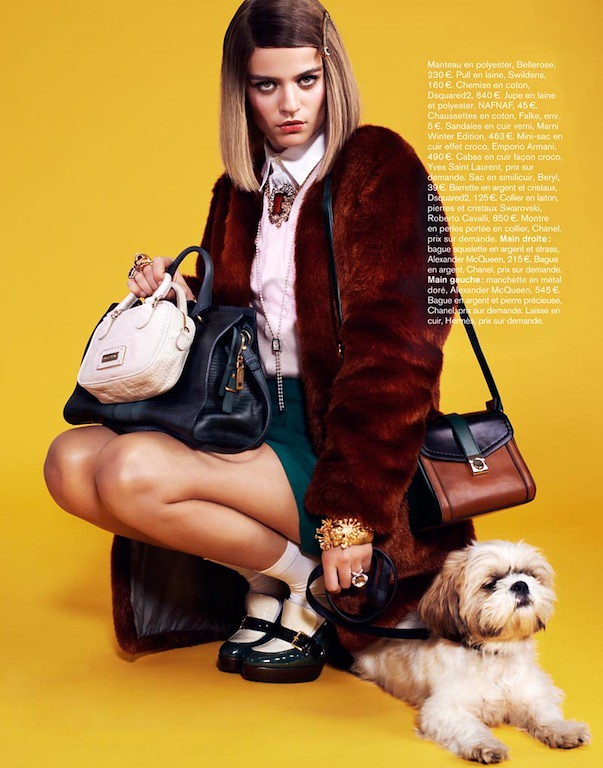 High Society Rintje van Witjick as Margot Tenenbaum Glamour France Nov 2012 5