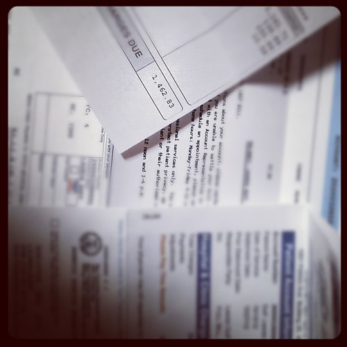 Medical bills WITH health insurance