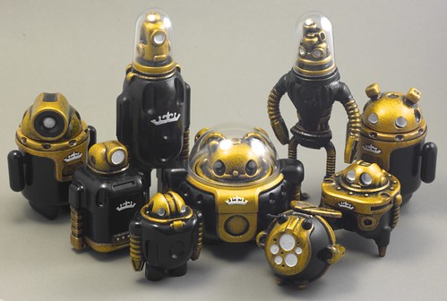 Black Friday Bots (Black and Solar Gold) / All the Black Friday bots except the Dioramas.