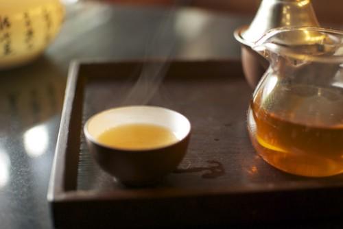 Jour 1, dégustation de Fu Zhuan dans une maison de thé à Changsha