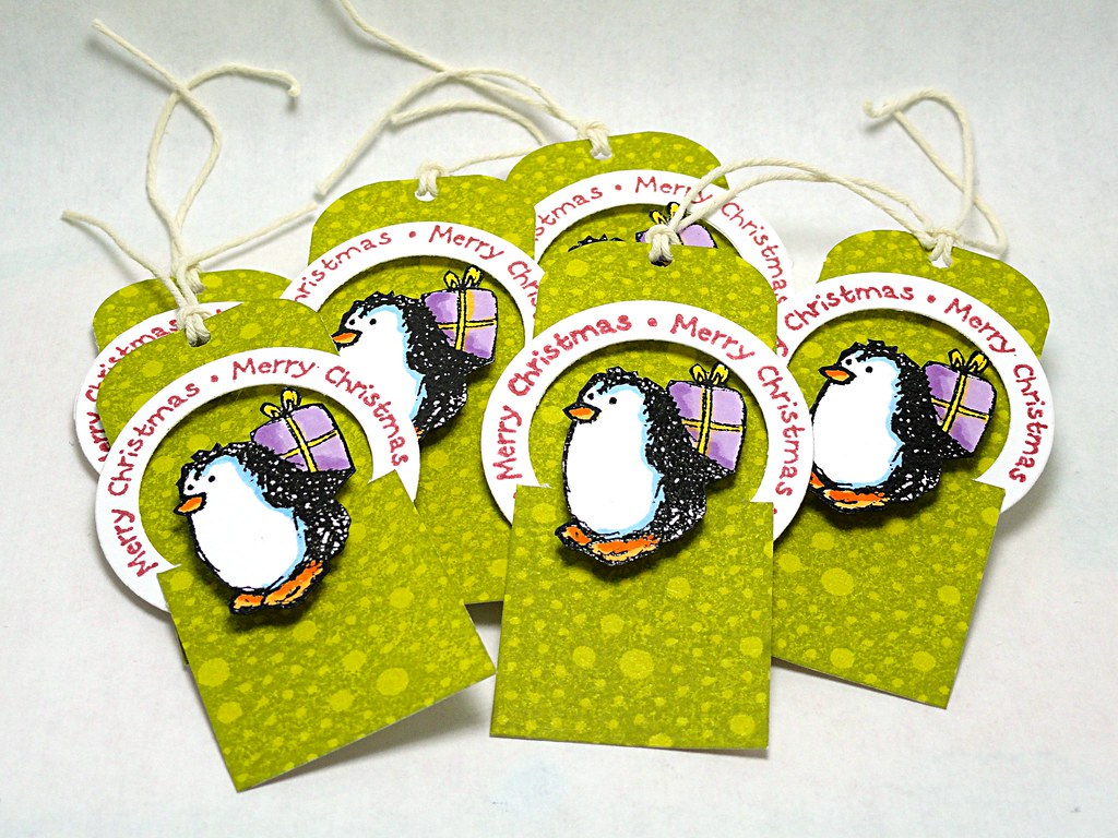 Holiday Penguin Tags