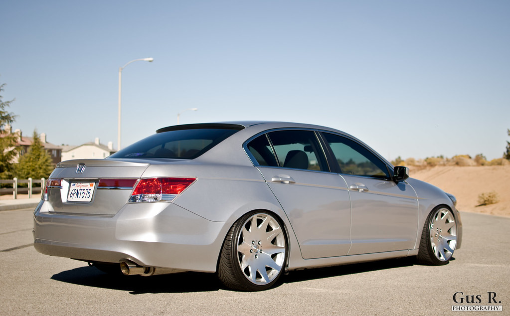 honda accord 7th gen sedan silver stance mrr hr3 wheels