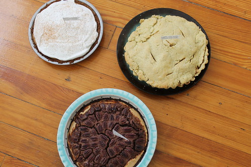 Three Thanksgiving Pies