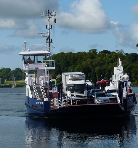County Down: Strangford Ferry about to dock. Explored