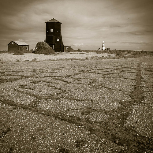 Some of the old buildings at Orford Ness