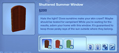 Shuttered Summer Window