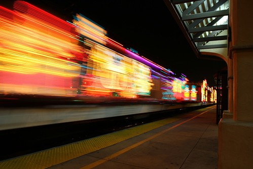 Metrolink's Holiday Toy Express Delights Los Angeles. © Photo by Juan Guerra. Click to view more...