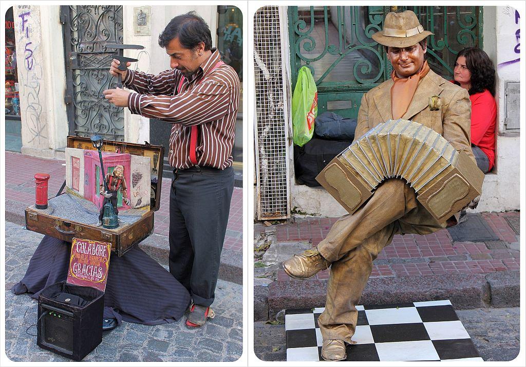 street performers san telmo