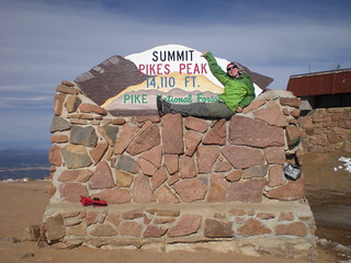 Clare Resting on Pike's Peak Summit
