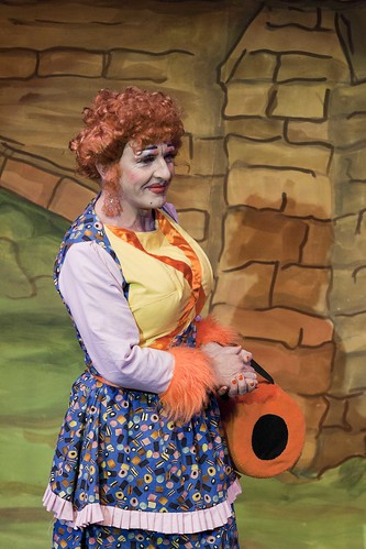 What a sweetie (it takes allsorts)! Stephen Doherty as the Dame in the Brunton Theatre's 2012 pantomime: Puss In Boots