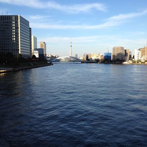 中央大橋から見る東京スカイツリー by haruhiko_iyota