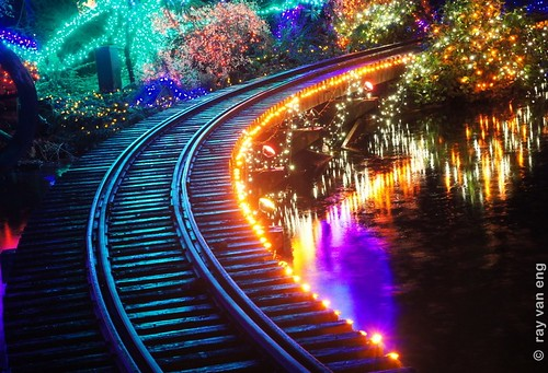 Bright Nights 2012 at Stanley Park with a Christmas Mini-train Ride through a Winter Wonderful of Colorful Lights