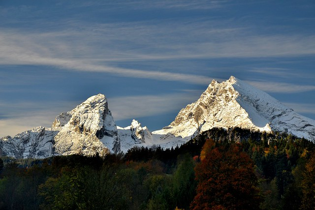 Watzmann in autumn snow