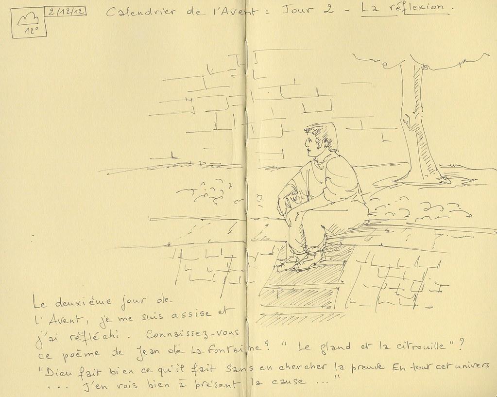 Sketchbook Calendrier De Lavent Jour 2 La Réflexion