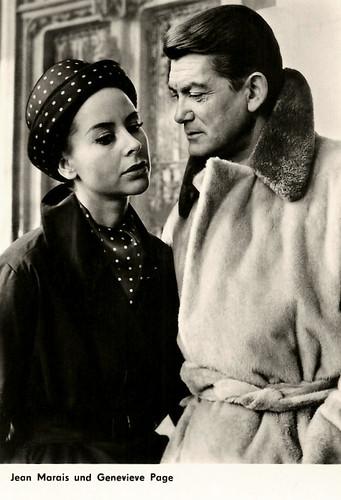 Jean Marais & Geneviève Page in L'honorable Stanislas, l'agent secret