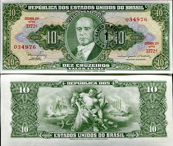 1 Centavo Brazília 1966-67, Pick 183