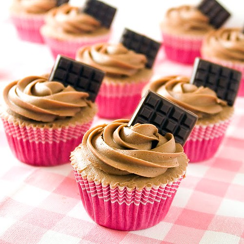 cupcake tabletas chocolate