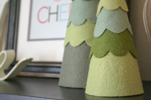 Felt tree decor | yourwishcake.com