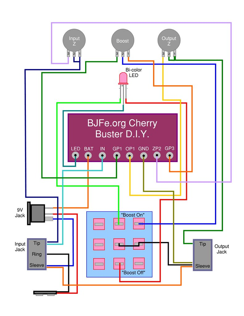 guitar effects community bull view topic cherry buster build wiring diagram for common anode led