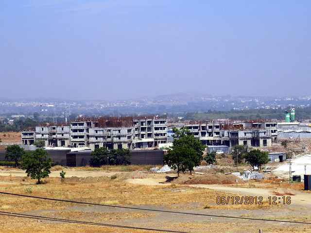 4th Avenue from the viewing point on the Patio of the Site Office  - Development in the 1st Year - Kolte-Patil Life Republic Marunji, Hinjewadi - Kasarsai Road, Pune 411057