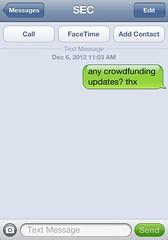 texting the sec