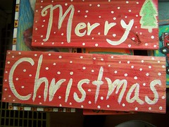Merry Christmas Sign by Emilyannamarie