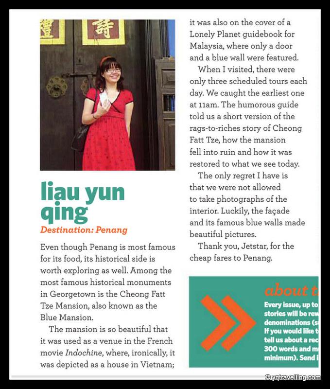 YQ on Jetstar Asia, Cheong Fatt Tze Mansion