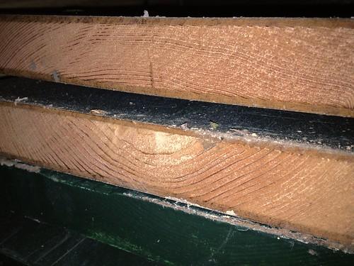 Resawing reclaimed lumber by fettler for Reclaimed fir flooring seattle