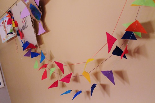 felt shapes garland