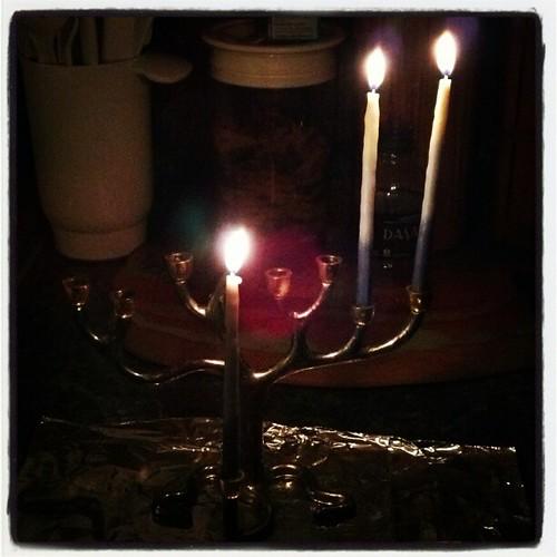 2nd Night of Chanukah #chanukah #hanukkah #menorrah #candles by ShellyS