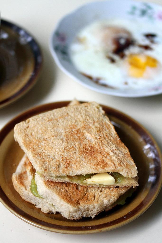 Ah Seng (Hai Nam) Coffee: Kaya toast