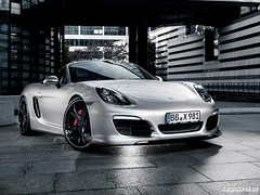 convertible(0.0), automobile(1.0), automotive exterior(1.0), wheel(1.0), vehicle(1.0), performance car(1.0), automotive design(1.0), porsche boxster(1.0), porsche(1.0), bumper(1.0), porsche carrera gt(1.0), land vehicle(1.0), luxury vehicle(1.0), coupã©(1.0), supercar(1.0), sports car(1.0),