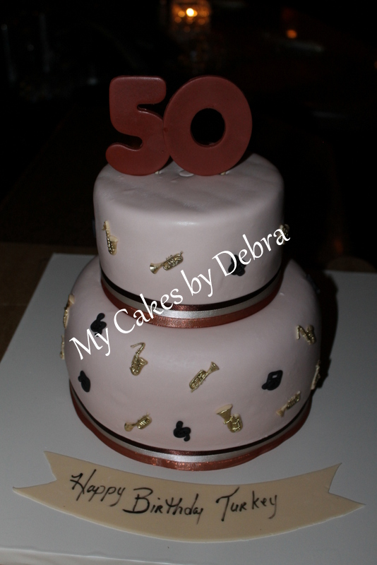 50th Birthday Cake Jazz Theme
