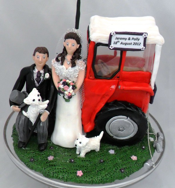 metal tractor wedding cake topper handcrafted wedding cake toppers craftjuice handmade 17269