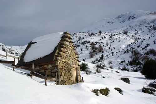 neige cabane orry pyrénées pirineos ariège leport couserans lamarda courtal
