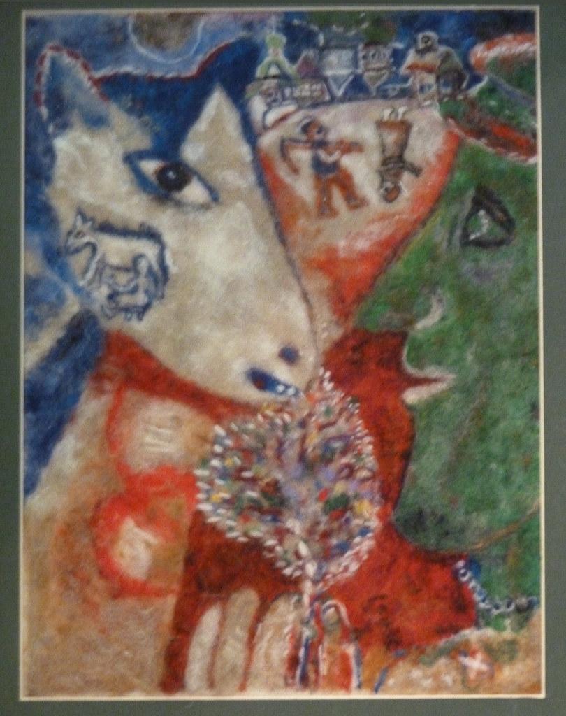 Валяние Людмилы Тарасовой ( по картине Шагала 2).Ярмарка ремесел МЛЫН, Минск,