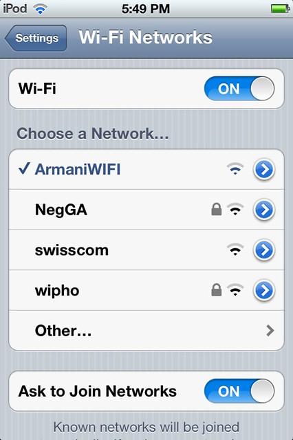 Armani Wi-fi