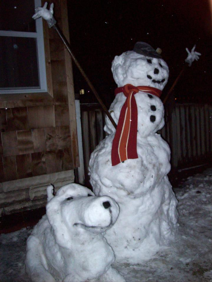 Snowman and snowhound